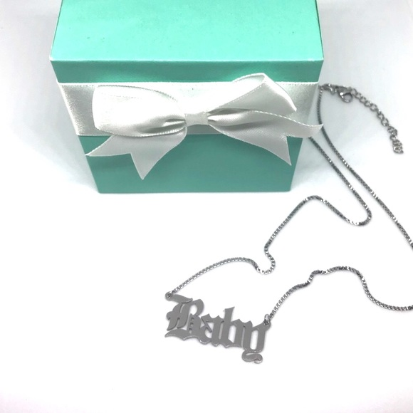Baby Old English Statement Necklace